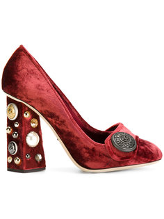 бархатные туфли-лодочки Jackie Dolce & Gabbana