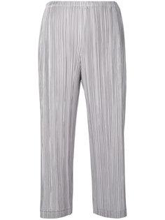 укороченные фактурные брюки со складками  Pleats Please By Issey Miyake