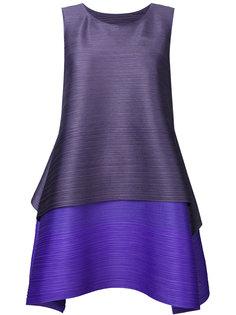 фактурное ярусное платье со складками  Pleats Please By Issey Miyake