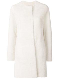 пальто без воротника Drome