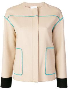 куртка с контрастной строчкой Agnona