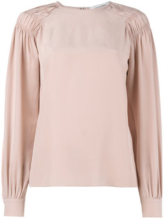 блузка с присборенными плечами Valentino