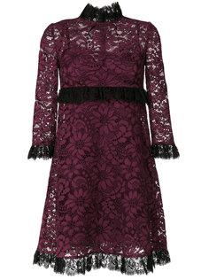 кружевное платье с оборкой  Dolce & Gabbana