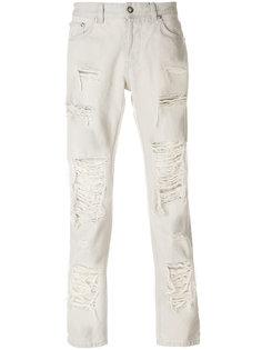 джинсы с рваным эффектом Versus