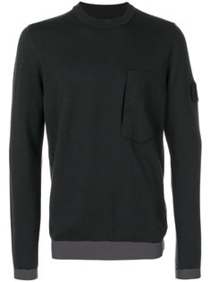 свитер с заплаткой на рукаве Stone Island Shadow Project