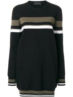 свитер свободного кроя с узором в полоску Diesel Black Gold