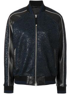 куртка-бомбер с кружевной отделкой Diesel Black Gold