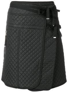 стеганая юбка А-образного силуэта Diesel Black Gold