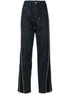 джинсы с завязками и лампасами Diesel Black Gold