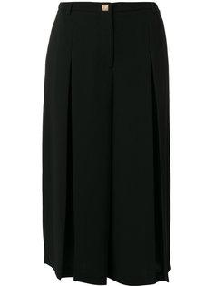 широкие укороченные брюки Versace Collection