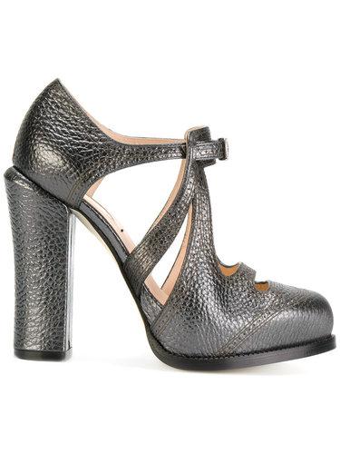 туфли с декоративными вырезами Fendi