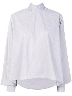 блузка свободного кроя с завязками на шее Mm6 Maison Margiela