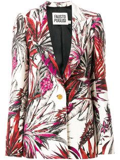 пиджак с тропическим принтом Fausto Puglisi