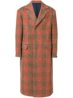 длинное пальто в клетку Mp  Massimo Piombo