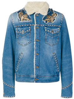 джинсовая куртка с заклепками Just Cavalli