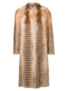 пальто миди без воротника  Liska