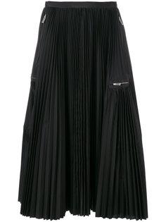 плиссированная юбка с молниями Sacai