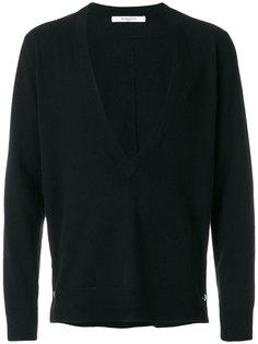 свитер с глубоким V-образным вырезом Givenchy