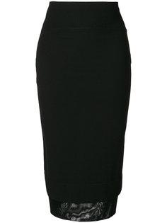 юбка миди с многослойным краем  Givenchy