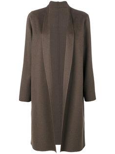 пальто миди с лацканами-шалькой Liska