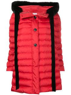стеганая куртка с контрастной окантовкой Miu Miu