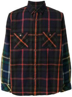 клетчатая рубашка Sacai