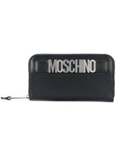 кошелек с бляшкой с логотипом Moschino
