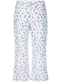 укороченные брюки с цветочным принтом Altuzarra