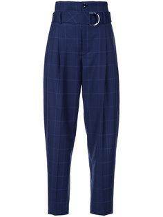 брюки с завышенной талией и поясом  Astraet