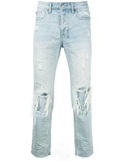 джинсы с потертой отделкой Ksubi