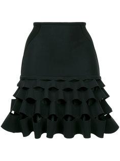короткая юбка с рюшами Dion Lee