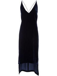 тонкое бархатное платье-комбинация Dion Lee