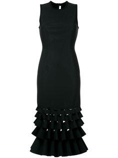 платье с оборками с декоративными разрезами Dion Lee