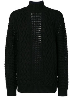 вязаный свитер с высоким воротником Balmain