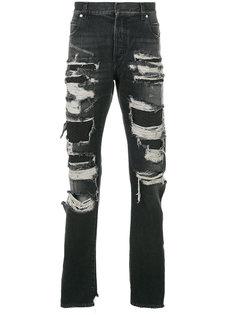 джинсы с рваным эффектом Balmain