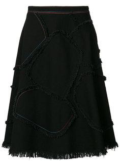 А-образная юбка с бахромой  Sonia Rykiel