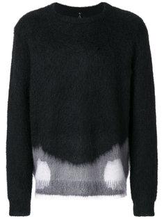свитер в стиле колор блок Oamc