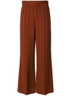 расклешенные брюки в тонкую полоску Chloé
