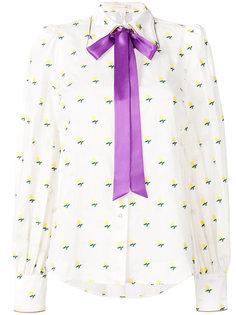 блузка с завязкой на шее и оборкой  Marc Jacobs