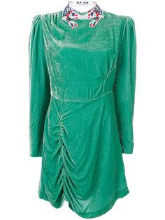 платье с вышивкой на воротнике  Vivetta