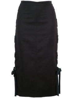 юбка Ring Leaders со шнуровкой по бокам  Manning Cartell