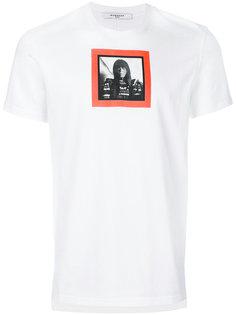 футболка с портретом Givenchy