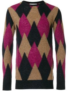 свитер с ромбовидным узором Laneus