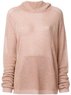 свитер с капюшоном с металлическим отблеском Laneus