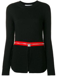 джемпер со вставками в виде молний Givenchy