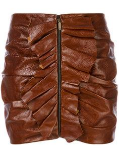 мини-юбка с оборками Saint Laurent