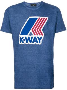 футболка с принтом с логотипом Dsquared2