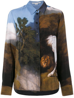рубашка с изображением пейзажа Stella McCartney