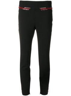 """брюки-""""скинни"""" со шнуровкой Alexander McQueen"""