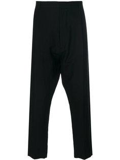 зауженные брюки с заниженной проймой Ann Demeulemeester